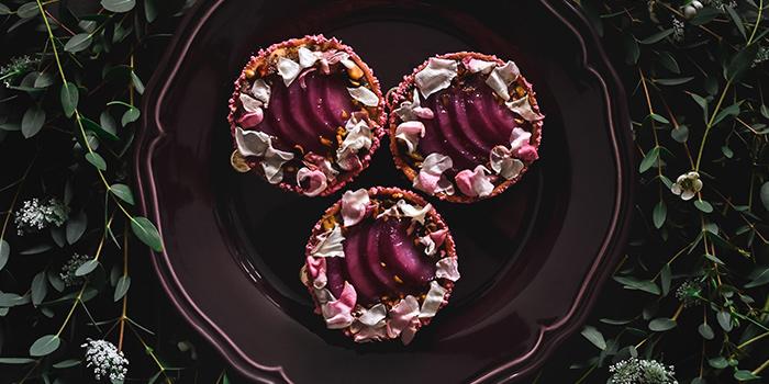 Pink Pear Elderflower Tarte from Wildseed Cafe in Seletar, Singapore