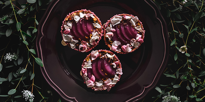 Pink Pear Elderflower Tarte from Wildseed Cafe in Seletar, Singapore