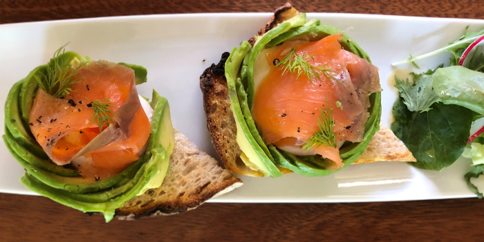 Poached Egg cured Salmon Avocado from Naturelle Cafe + Dining + Lounge at Phoenix Park in Tanglin, Singapore