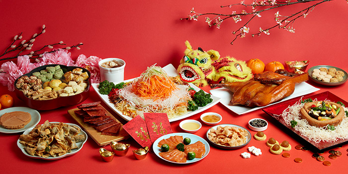 Lunar New Year Reunion Buffet Spread from Window on the Park in Holiday Inn Singapore Orchard City Centre in Orchard, Singapore