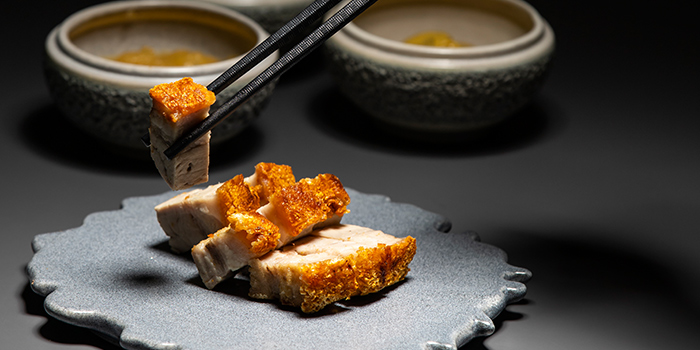 Roast Pork Belly from V Dining at Scotts Square in Orchard, Singapore