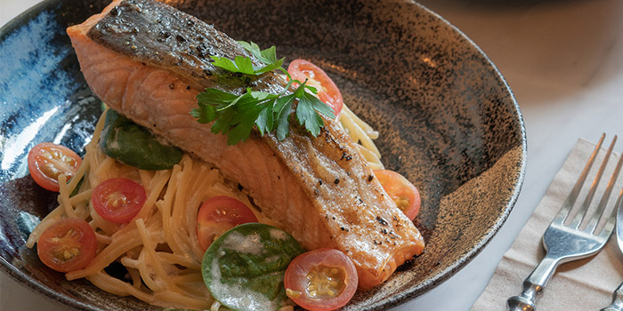 Miso Salmon Pasta from The Coffee Academics (Raffles City) in City Hall, Singapore