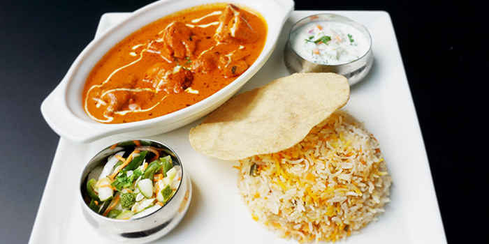 Butter Chicken Biryani from Jai Ho Indian Cafe at Global Kitchens in Queenstown, Singapore