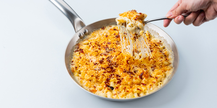 Truffle Macaroni & Cheese, Bacon Crumbsa from LINO Pasta Bar at Shaw Centre in Orchard, Singapore