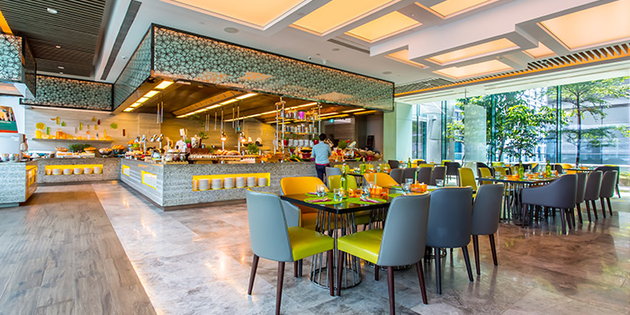 Interior of Makan@Jen at Hotel Jen Orchardgateway in Orchard, Singapore