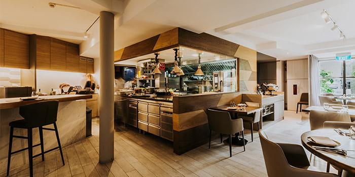 Interior of Meta Restaurant in Chinatown, Singapore