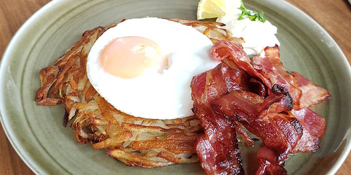 Rosti with Smoked Bacon from Oberstrasse in Lavender, Singapore