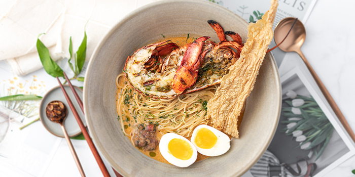 Boston Lobster Coconut Laksa from Perch at Jewel Changi Airport in Changi, Singapore