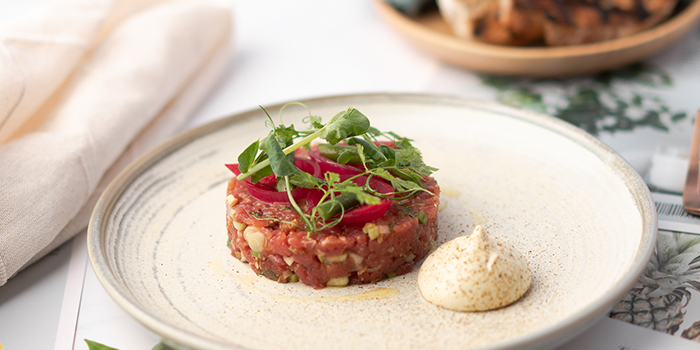 Hand Chopped Beef Tartare from Perch at Jewel Changi Airport in Changi, Singapore