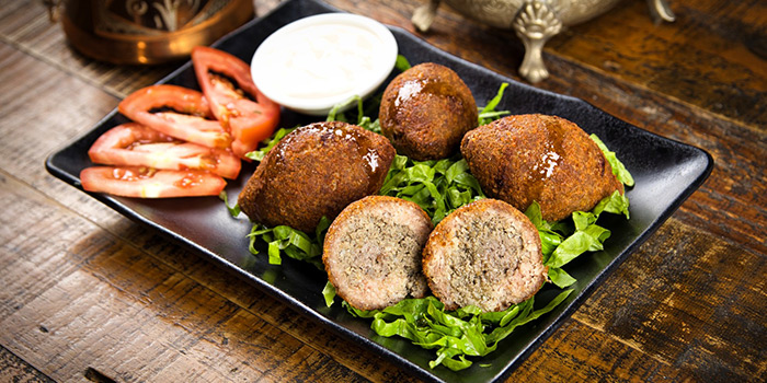 Kebbeh from Qasr Grille & Mezze Bar in Holland Village, Singapore
