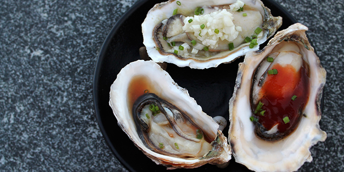 Oysters from Southbridge in Clarke Quay, Singapore