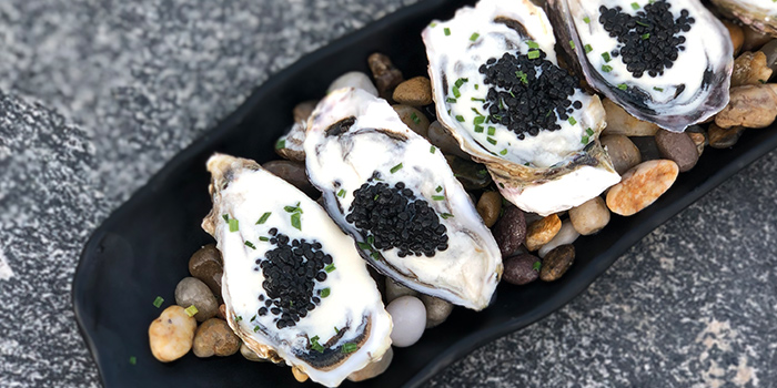 Oysters with Caviar from Southbridge in Clarke Quay, Singapore