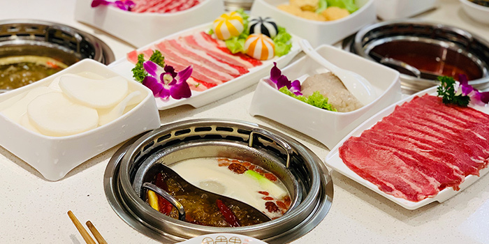 Assorted Food from Taikoo Lane Hotpot 太古里火锅 in Chinatown, Singapore