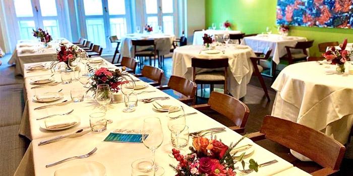 Main Dining Room of Gattopardo Ristorante di Mare on Tras Street in Tanjong Pagar, Singapore