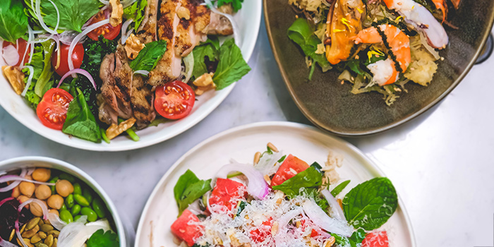 Salads Selection from Naturelle Cafe + Dining + Lounge at Phoenix Park in Tanglin, Singapore