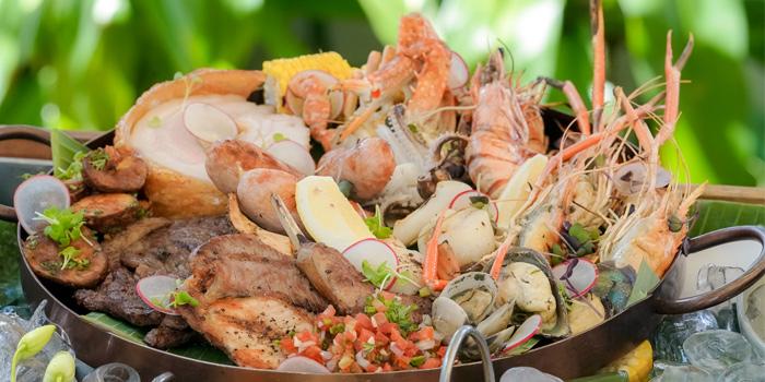 Food from Xana Beach Club in Bangtao, Phuket, Thailand.