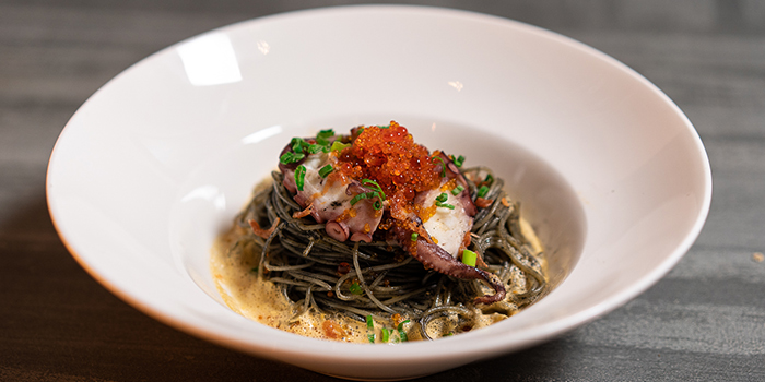 Uni Squid Ink Pasta from Wine & Chef in Keong Saik, Singapore