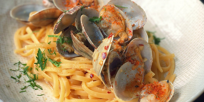Vongole Pasta from Rookery (Hong Leong Building) in Raffles Place, Singapore