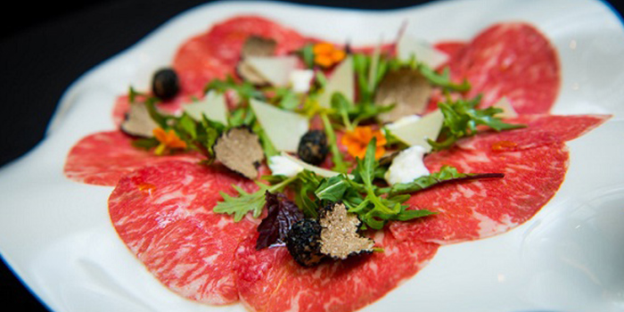 Wagyu Beef Carpaccio from ALBA 1836 Italian Restaurant in Duxton, Singapore