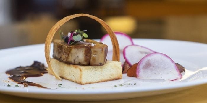 Roasted Foie Gras at Lobo Restaurant Ritz Carlton, Jakarta