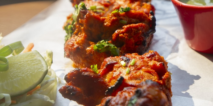 Chicken Tikka at Babooji, Gunawarman