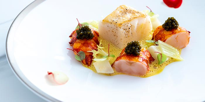 Calvisius Oscietra, Royal caviar, blue lobster, Atlantic cod, artichoke, LE PAN, Kowloon Bay, Hong Kong