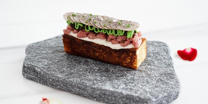 Petrossian Daurenki Royal caviar, winter truffle, Polmard beef, oyster cream, brioche toast, LE PAN, Kowloon Bay, Hong Kong