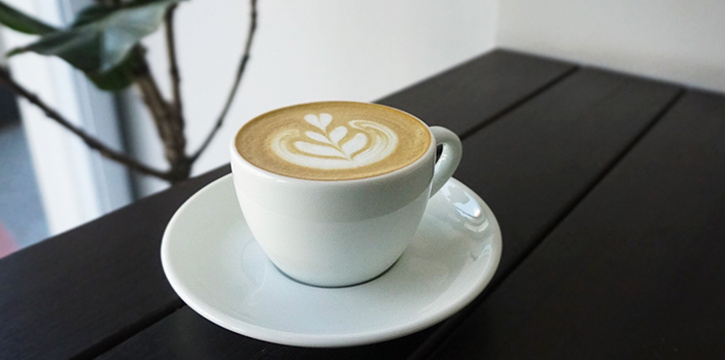 Cappucino from Five Oars Coffee Roasters in Tanjong Pagar, Singapore