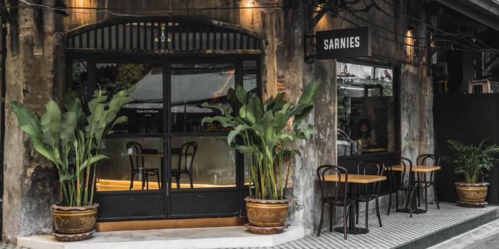 The Entrance of Sarnies Bangkok at 101-103 Charoen Krung Road 44 North Sathorn, Bang Rak Bangkok