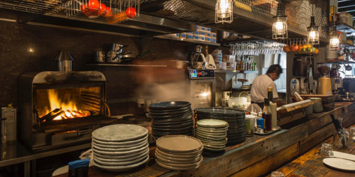 Kitchen in Moosehead Kitchen & Bar on Telok Ayer Street in Raffles Place, Singapore