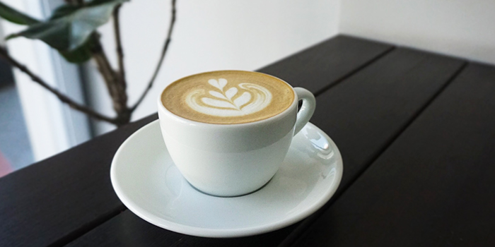 Cappucino from Five Oars Coffee Roasters in Tanjong Pagar, Singapore