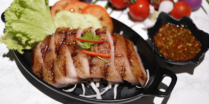 Grilled Pork Jowl from Kin Kao Mai Thai Restaurant in Punggol, Singapore
