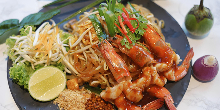 Pad Thai Noodle with Prawn from Kin Kao Mai Thai Restaurant in Punggol, Singapore