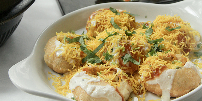 Sev Puri, Dahi Puri from Table Restaurant and Bar in Seah Street, Singapore