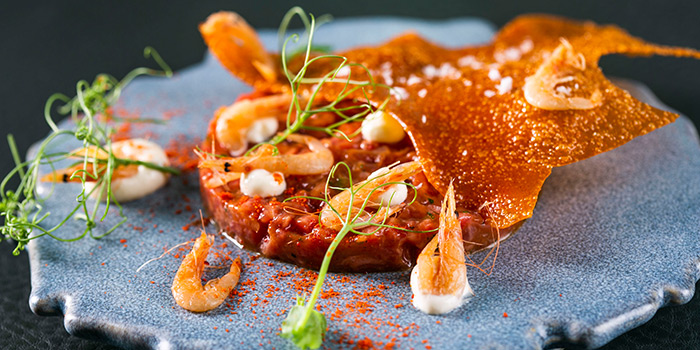 Wagyu Tartare from V Dining at Scotts Square in Orchard, Singapore