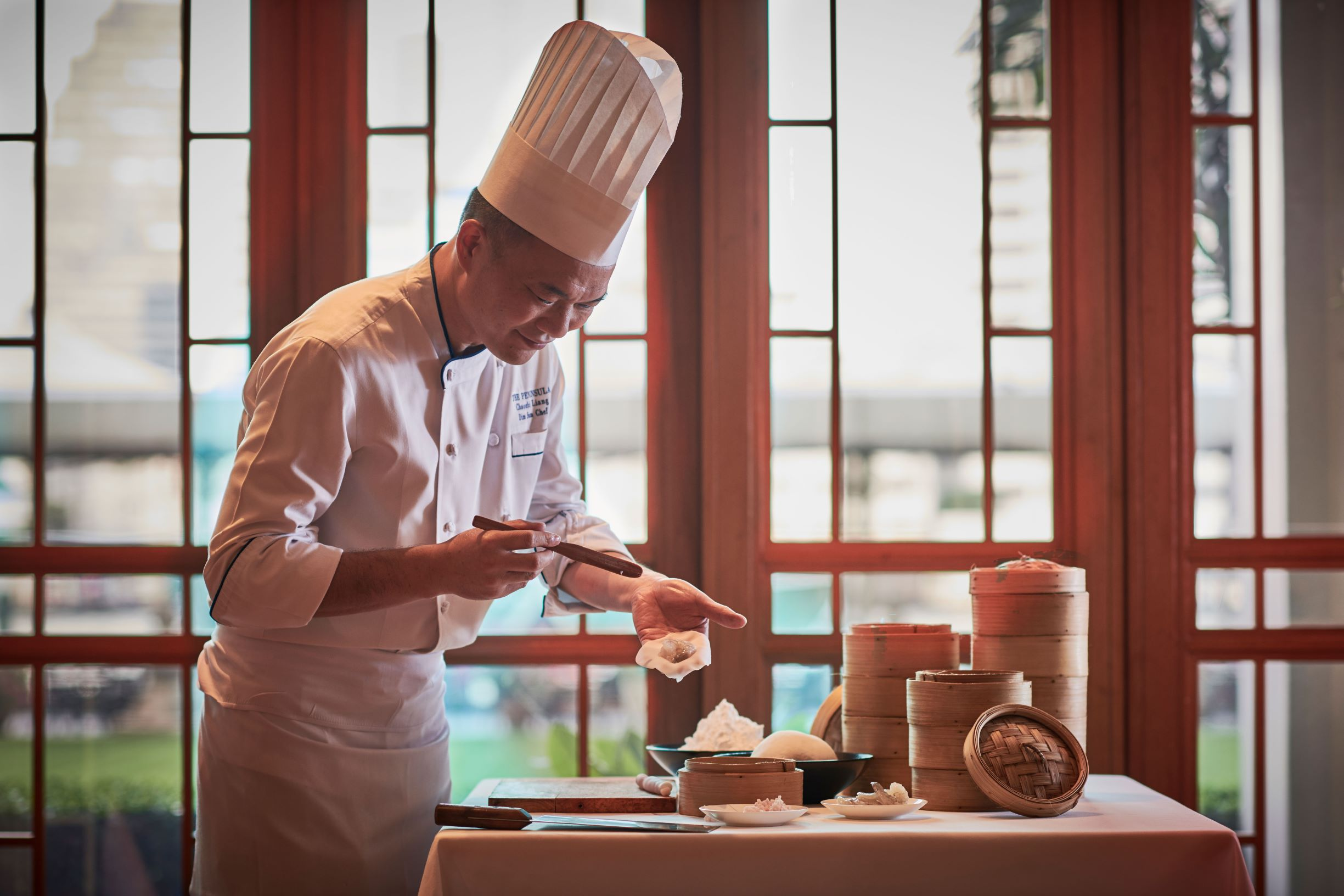 Chef Yau makes Hagao of River Café & Terrace at The Peninsula Bangkok