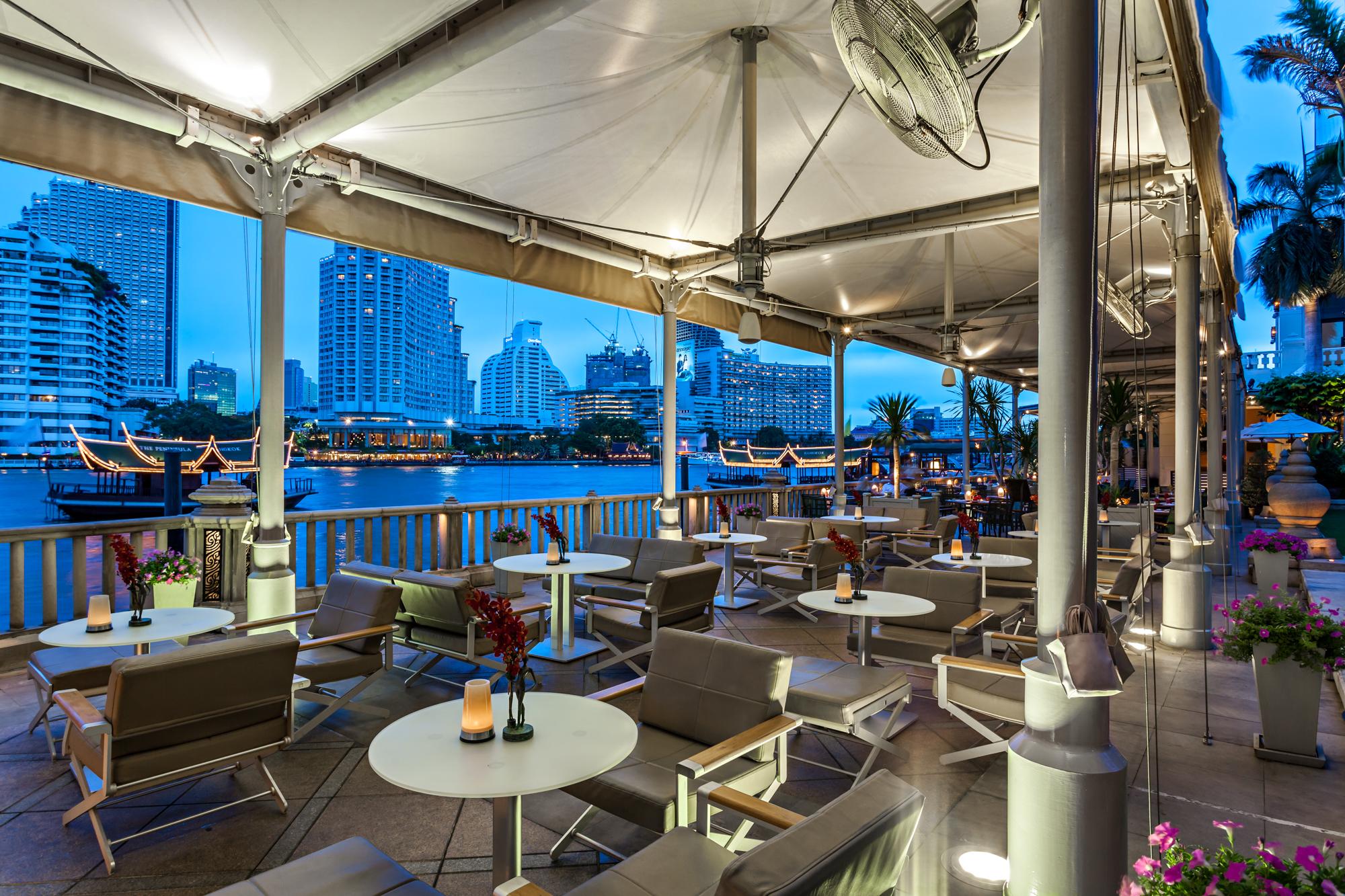 Dining room of River Café & Terrace at The Peninsula Bangkok