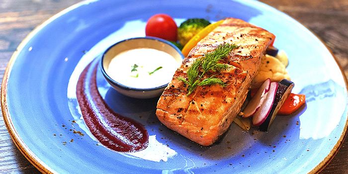 Grilled Salmon from Cuba Libre Cafe & Bar (Clarke Quay) in Clarke Quay, Singapore