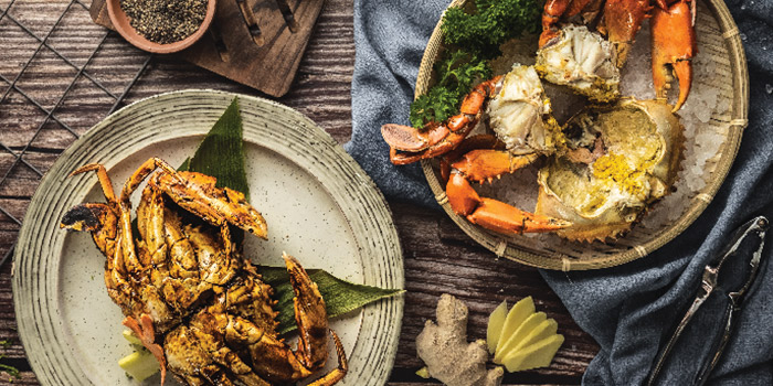 Sri Lankan Mud Crabs from Captain K Seafood Tower at Midland House in Bugis, Singapore