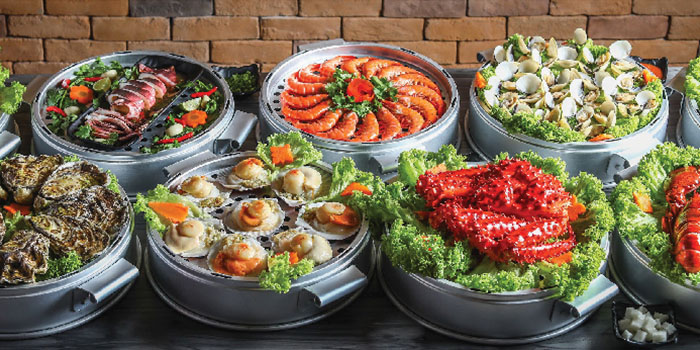 Food Spread from Captain K Seafood Tower at Midland House in Bugis, Singapore