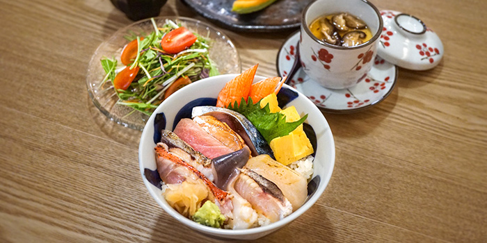 Aburi Chirashi Lunch Set from Kyoten Japanese Cuisine in Tiong Bahru, Singapore