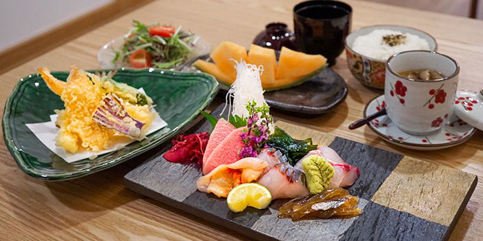 Tempura & Sashimi Lunch Set from Kyoten Japanese Cuisine in Tiong Bahru, Singapore