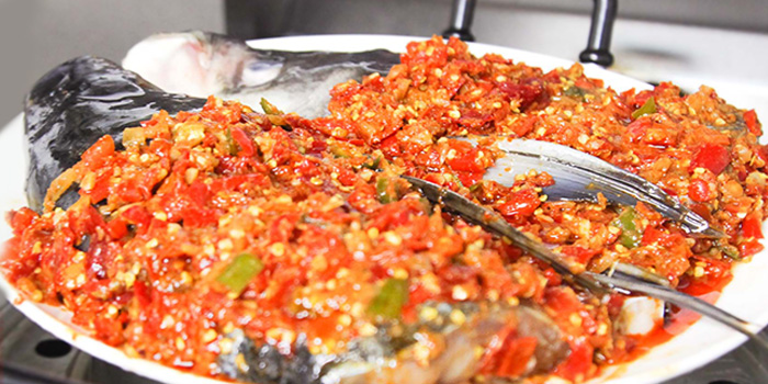Fish Head with Chopped Pepper from Happy Dining Seafood 喜来聚海鲜 in Chinatown, Singapore