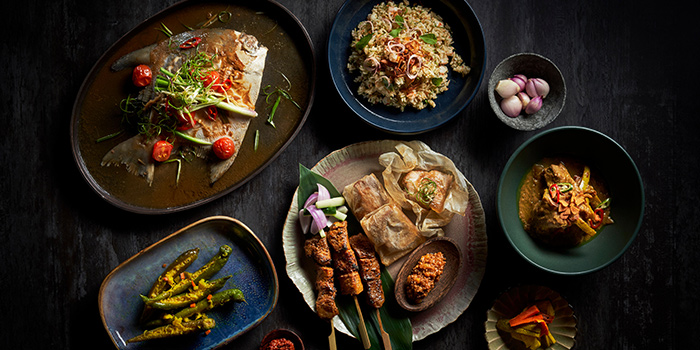 Food Spread from Kin at Straits Clan in Outram, Singapore