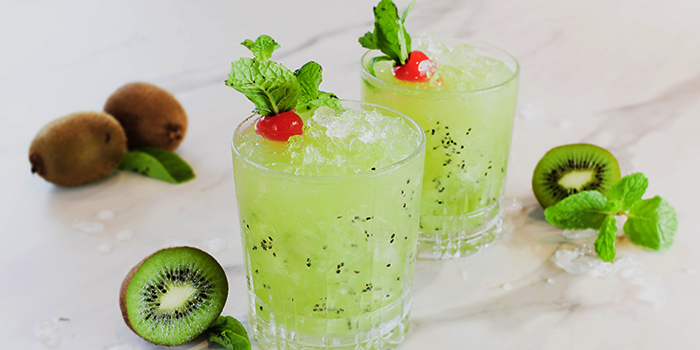 Kiwi Cooler from Urbana Rooftop Bar at Courtyard by Marriott Singapore in Novena, Singapore