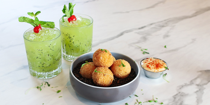 Machego Croquette from Urbana Rooftop Bar at Courtyard by Marriott Singapore in Novena, Singapore