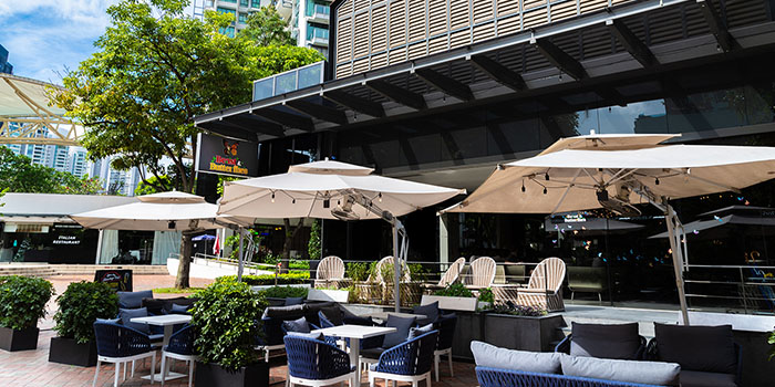 Al Fresco Area of Beast & Butterflies at M Social Singapore in Robertson Quay, Singapore