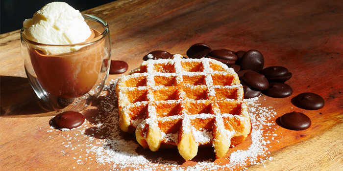 Waffles a la Mode from KOB - Kingdom of Belgians in Robertson Quay, Singapore