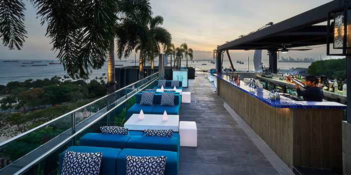 Outdoor of 1-V:U – Restaurant at The Outpost Hotel in Sentosa, Singapore