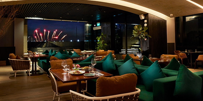 Interior of 1-V:U – Restaurant at The Outpost Hotel in Sentosa, Singapore